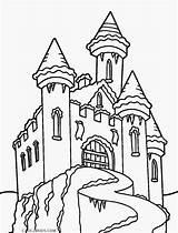 Castle Coloring Frozen Pages Disney Drawing Elsa Printable Cool2bkids Anna Template Print Drawings Getcolorings Getdrawings Paintingvalley sketch template