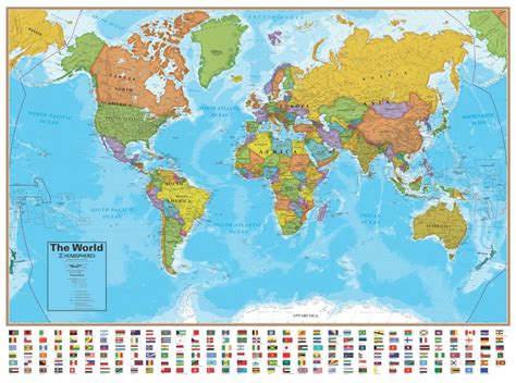 Wall Map Of The World  Laminated  Just $1999