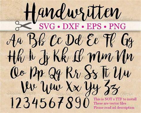 handwritten script svg font cursive script svg dxf eps