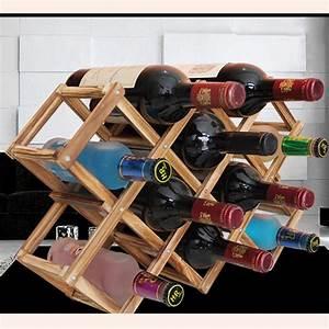 Wood, Folding, Wine, Racks, Foldable, Wine, Stand, Wooden, Holder, 10, Drink, Bottles, Kitchen, Bar, Display