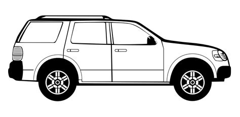 cartoon sports car side view onlinelabels clip art suburban assault vehicle side