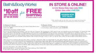 Bath And Body Works Free Shipping Code Gallery