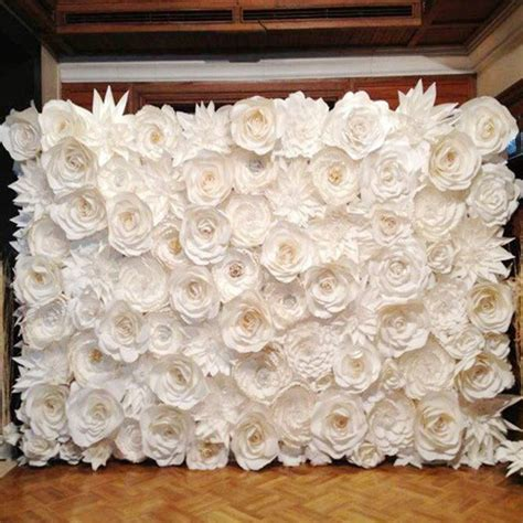 pcs set gaint wedding paper flowers wall handmade diy