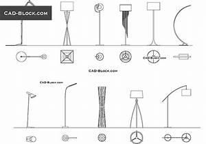 Cad blocks free download for Floor lamp cad block