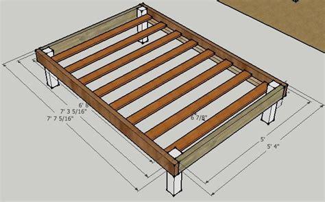 simple platform bed frame plans furniture pinterest