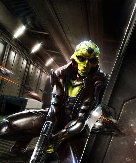 Mass Effect Thane Krios By Madec Brice On Deviantart