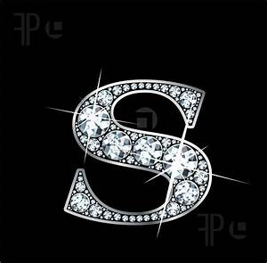 "Illustration of A stunningly beautiful ""S"" set in diamonds ..."