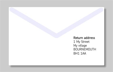 address mail  guide  clear letter addressing