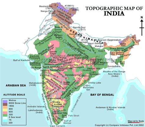 mountain ranges mapsofindia