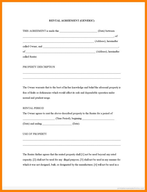 Free Printable Alabama Month To Month Rental Agreement 10 Free Printable Lease Agreement St Columbaretreat House