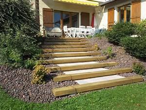 pichon paysagiste en pays de gex ain 01 maconnerie With photo de jardin de maison 13 decoration escalier exterieur