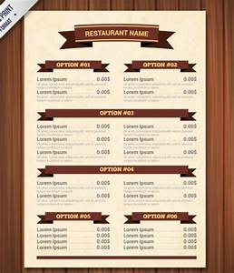 Template For Restaurant Menu - Invitation Template