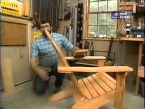 adirondack chair plans new yankee workshop woodworking