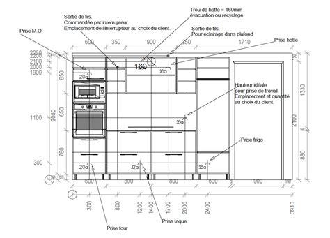 hauteur prise de courant cuisine hauteur prise plan de travail cuisine 3 tracer le point