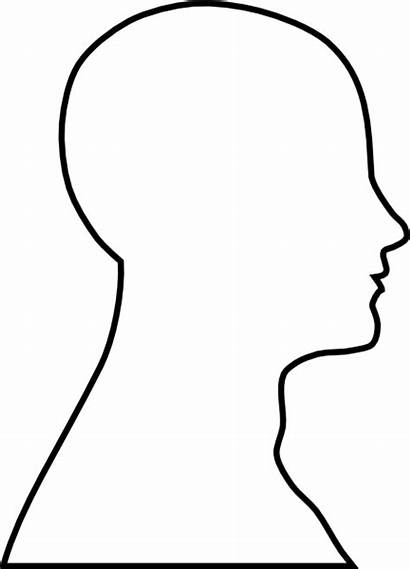 Outline Head Clip Clipart Clker Vector