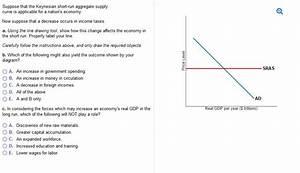 29 In The Diagram The Economys Immediate Short Run