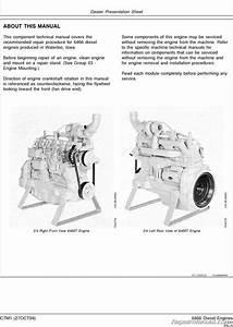 John Deere 6466 Engine 400 Series 790d 790dlc 892dlc
