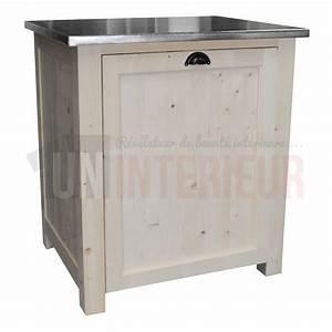 Meuble Lave Vaisselle : meuble lave vaisselle en pin massif ~ Teatrodelosmanantiales.com Idées de Décoration