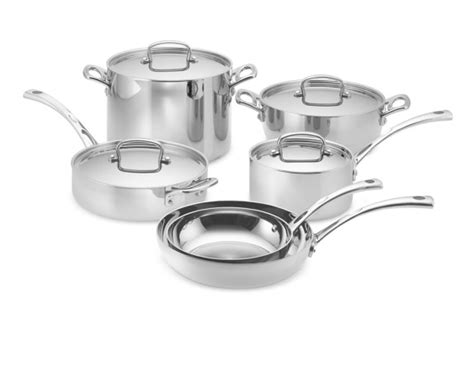 cuisinart french classic tri ply stainless steel  piece cookware set williams sonoma