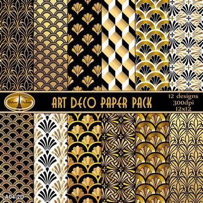 Deco Digital Gold Paper Pack Pattern Backgrounds