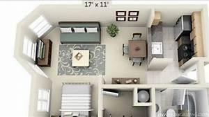 Studio Apartment Floor Plans - YouTube