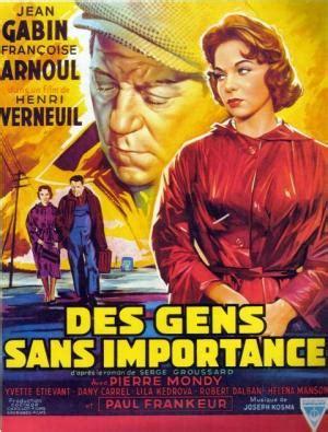 jean gabin des gens sans importance des gens sans importance 1956 filmaffinity