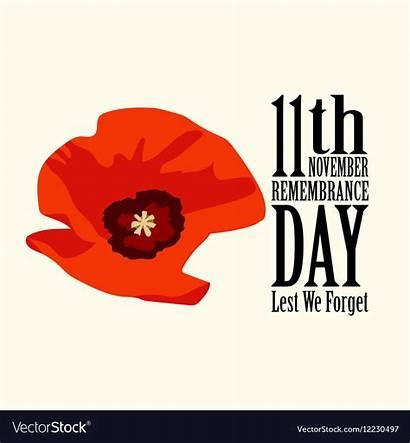 Poppy Remembrance Flower Vectors