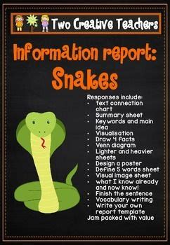 information report pack snakes information report