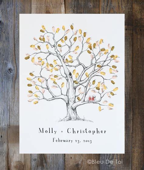 fingerprint tree wedding guest book alternative medium