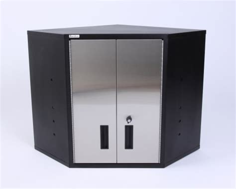 Gladiator Wall Mount Cabinet by Corner Wall Cabinet Black Amp Stainless Steel