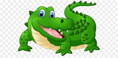 Alligator Crocodile Cartoon Clipart Happy Clip Caiman