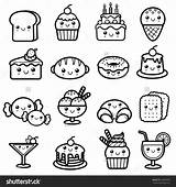 Coloring Dessert Shutterstock Vector Illustration 17kb 1600px 1500 Drawings sketch template