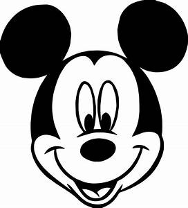 Coloring Pages Of Mickey Mouse Face - Bltidm