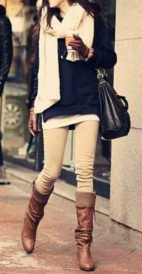 Fascinating Collection Winter Outfits With Flat Boots
