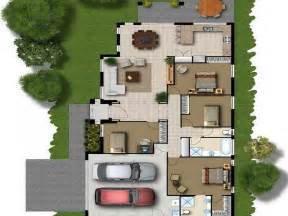 simple house building design placement floor layout plan modern house