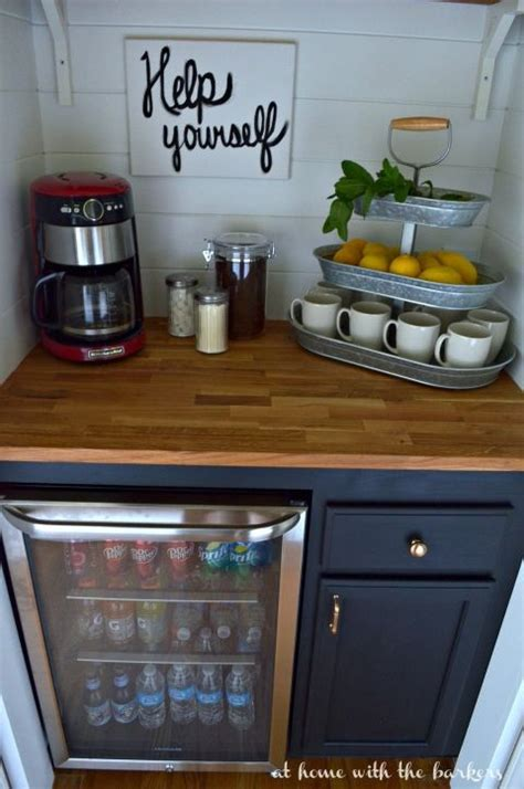 bar cabinet with fridge space diy beverage bar chalky finish paint beverage bars and