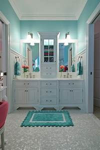 turquoise bathroom contemporary bathroom tr building With what kind of paint to use on kitchen cabinets for wall art and mirrors