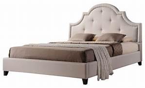 Finley Beige Linen Platform Bed  Beds TOVB10BQ0