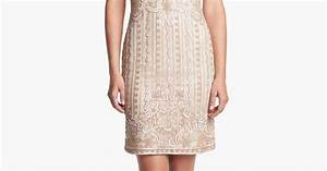 J Kara Embellished Mesh Sheath Dress Petite Nordstrom
