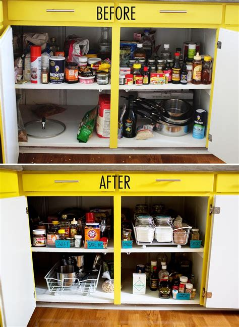 get organized kitchen cabinets a beautiful mess