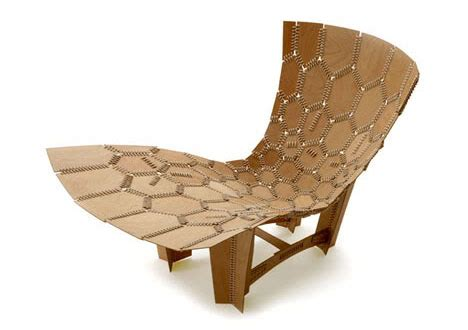 knit leather wood contemporary lounge chair design