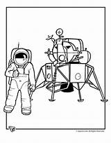 Astronaut Coloring Pages Space Moon Colouring Landing Camp Template Astronauts Activities Printable Nasa Popular Theme Printer Send Button Special sketch template