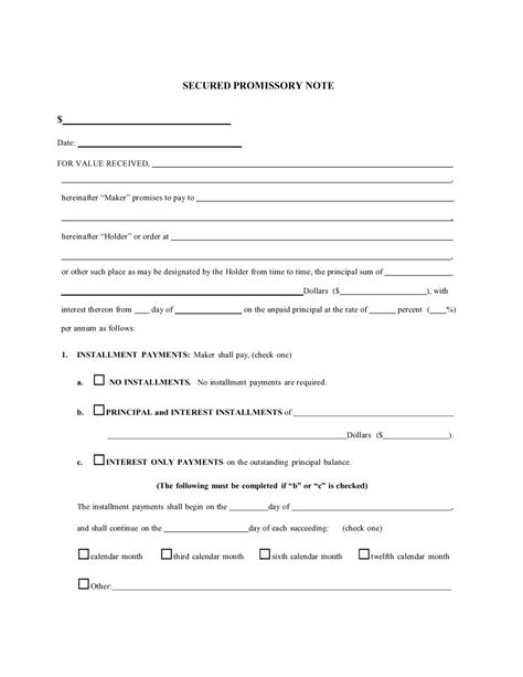 Promissory Note Template 45 Free Promissory Note Templates Forms Word Pdf