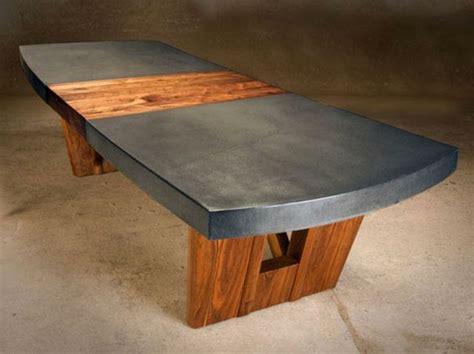 tisch aus beton beton tisch eine originelle einrichtungsidee