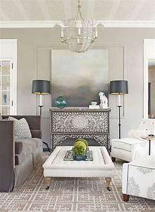 White And Grey Wall Colors For Scandinavian Living Room