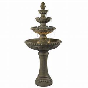 Wildon home r isley two light floor fountain reviews for Outdoor patio fountains