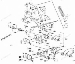 Arctic Cat Atv 2002 Oem Parts Diagram For Front Suspension