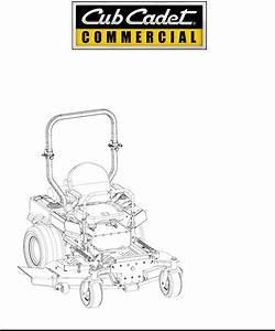 Cub Cadet Lawn Mower 53ai8ct8050 User Guide