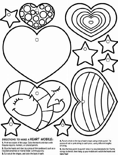 Heart Crayola Coloring Mobile Pages Hearts Valentine