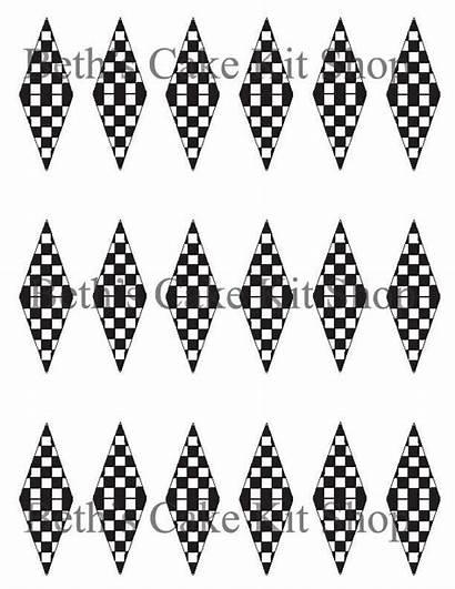 Checkered Flag Finish Printable Line Racing Cake